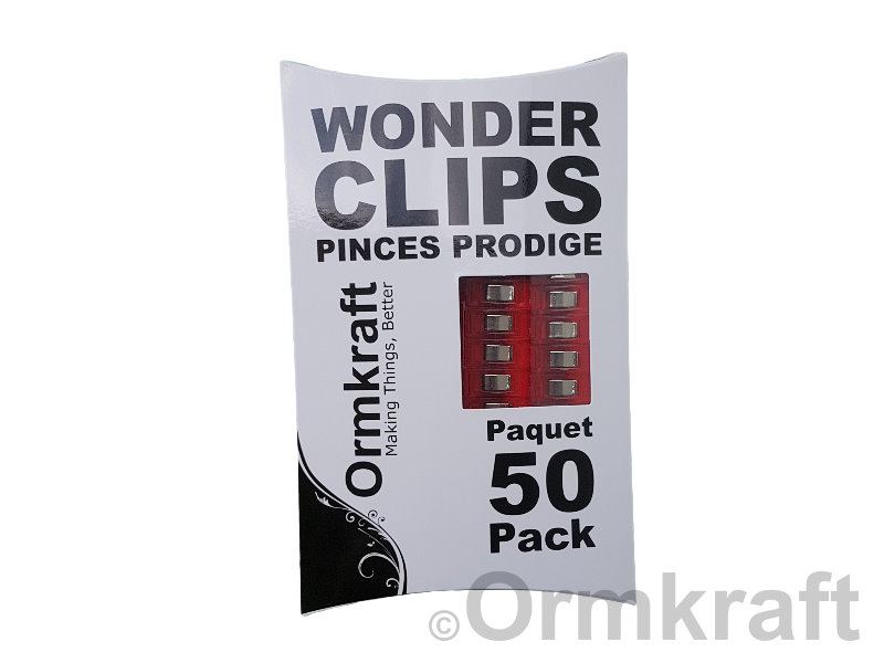 Ormkraft Wonder Clips - Package of 50 - Red